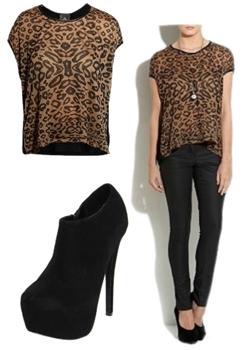 wearing leopard print top