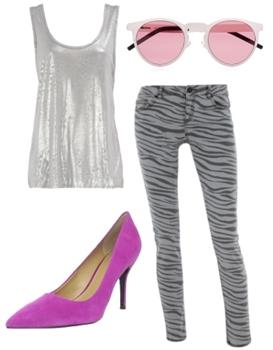 zebra skinny jeans outfit