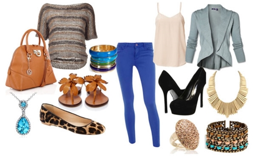 Day And Night Outfit with Cobalt Pants