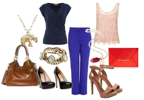 Day And Night Outfit with Cobalt Trousers