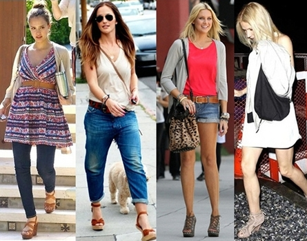 How Celebrities Wear Wedge Sandals