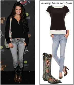 How to wear cowboy boots on jeans