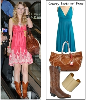 How to wear cowboy boots with sundress