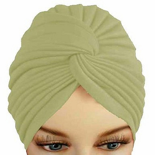 Ivory Pleated Turban Hat