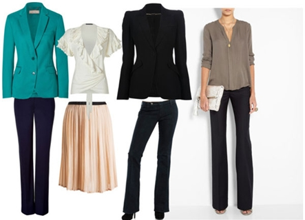 Pear Shaped Body Work Outfits
