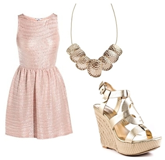 Wear Wedge Sandals with Dress
