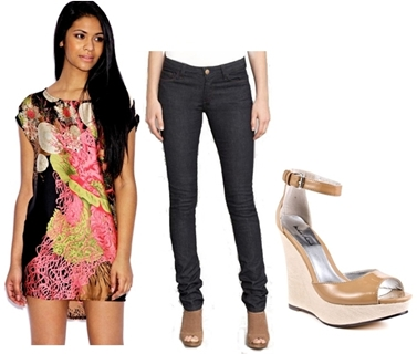 Wear Wedge Sandals with Tunic Top