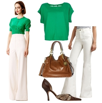 Women Outfit for Work - White Pants