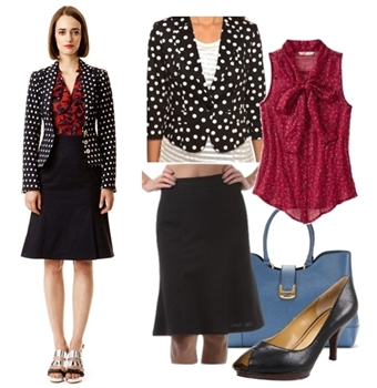 Women Work Outfit for Spring - Contrast Prints