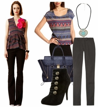 Women Work Outfit for Spring - Tribal Print