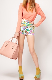 colorblocking with Printed Shorts