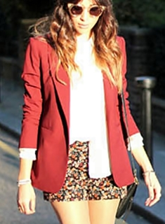 wear printed shorts with blazer