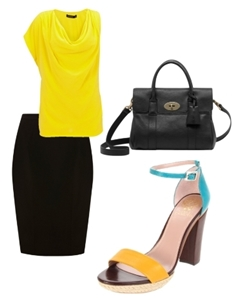 City chic colorblock sandals for work