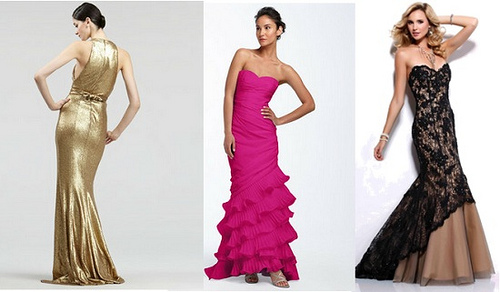 Fishtail formal wear