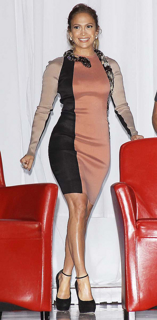 Jennifer Lopez snake dress by Lanvin