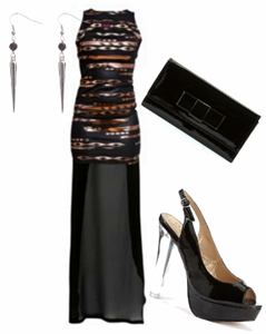 Party Look Tribal Print Fashion