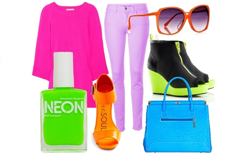 how to wear neon color