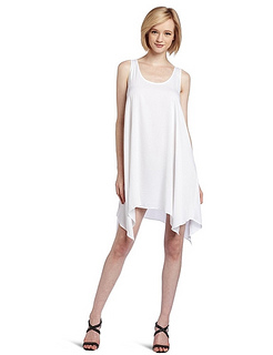 BCBGMAXAZRIA Women's Ezmi Draped Hem Tank Dress