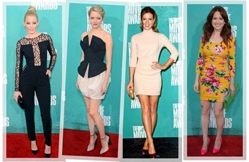 Best Dressed Celebritied MTV Movie Awards 2012