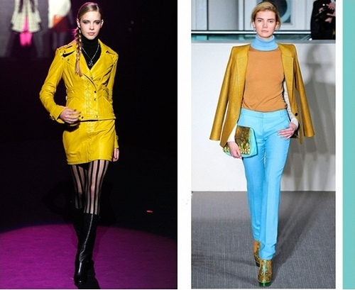 Fall 2012 Trend - mustard yellow outfits