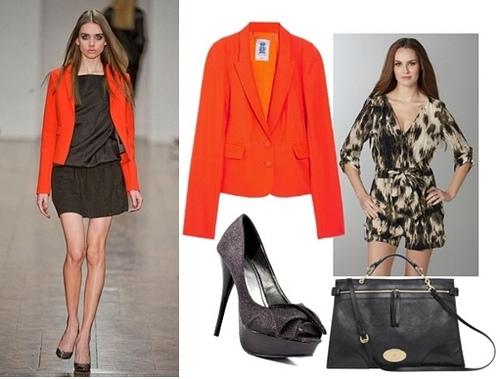 Fall Trend Orange Jacket over Jumpsuit