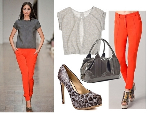 Fall Trend Orange Trousers
