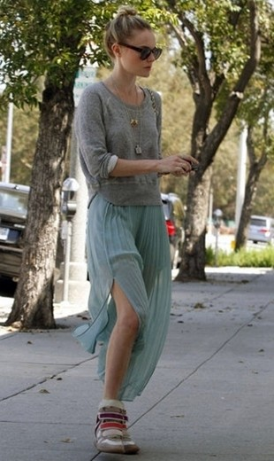 Kate Bosworth Wedge Sneakers Outfit