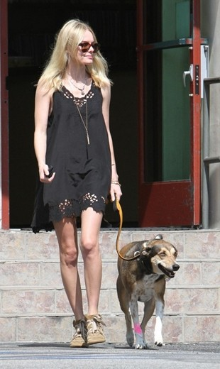 Kate Bosworth Wedge Sneakers with Dress Outfit