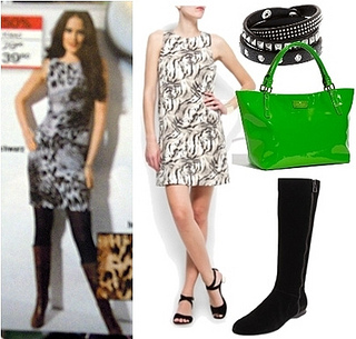 animal print dress with boots for summer fashion