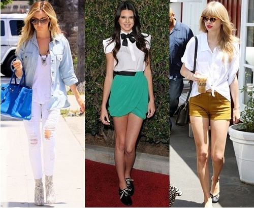 celebrities wearing white top for summer