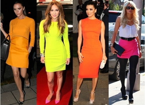 celebrity fashion - neon for summer