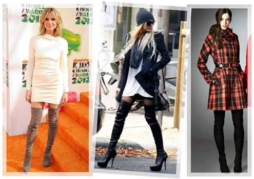 how to wear thigh-high boots