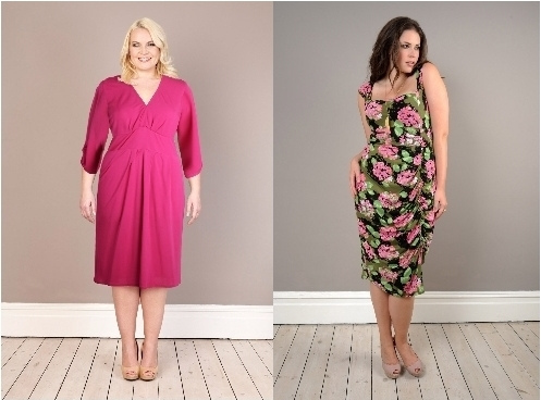 pink and floral summer dresses for plus size women