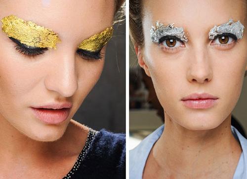 summer 2012 makeup trend - metallic