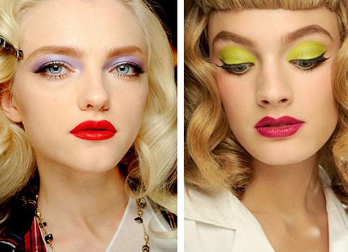 summer 2012 makeup trend - retro