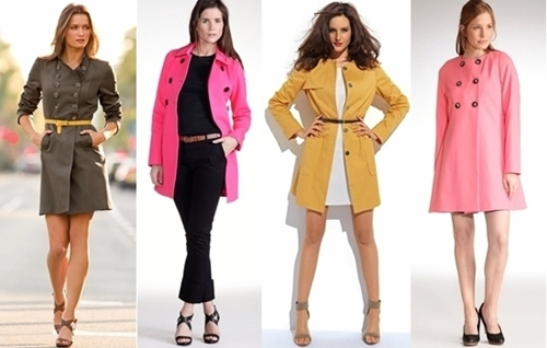 ways to wear colored coats in fall