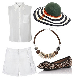 white outfit with cute accessories
