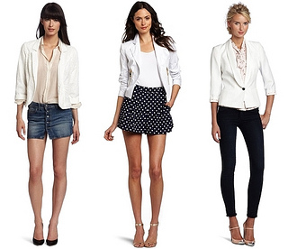 white summer blazer trend