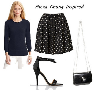 Alexa Chung Outfit at Couture Fashion Week
