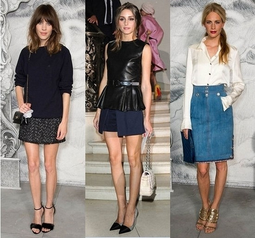 Celebrity Outfits from the Chanel Fall 2012 Couture Show