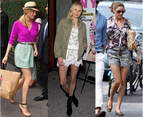 celebrity street style - Olivia Palermo Diane Kruger and Kate Bosworth