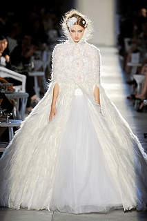 chanel couture fall 2012 wedding dress