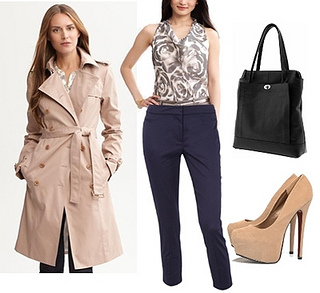 classic belted trench coat outfit