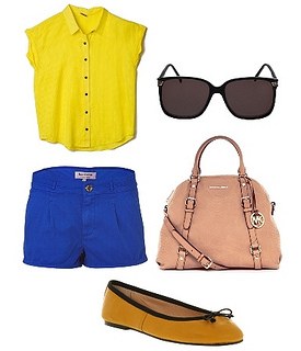 contrasting colors outfit not for petite