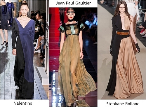 dresstrendfall2012pleateddresses