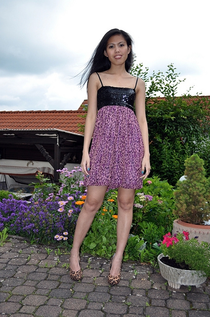 empire waist bubble dress