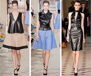 how to wear leather top
