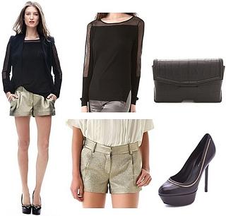 how to wear metallic shorts