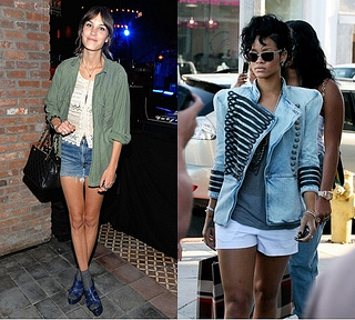 how to wear military jacket with shorts