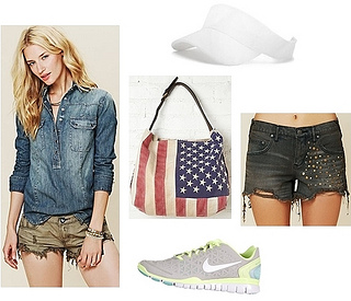 olympic 2012 outfit - denim pullover